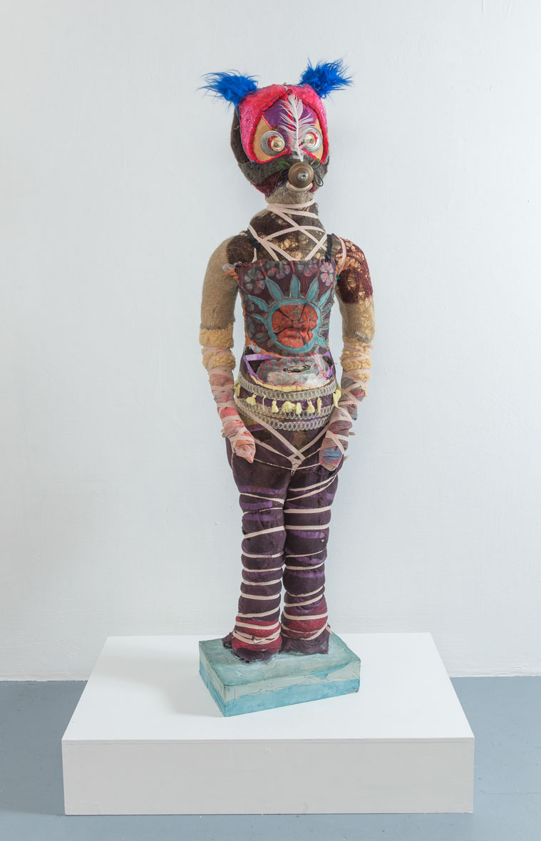 Freestanding Sculpture, Fabric and plaster,  170 x 46 x 38 cm
